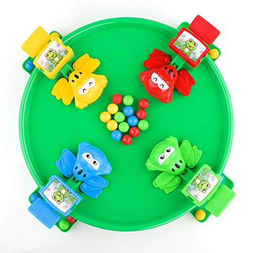 ClookYuan Funny Hungry Frogs Educational Toy Creative Desktop Toy Interactive Game Beads Feeding Toy Child Gift
