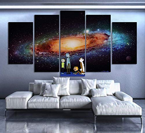 5 Canvas paintings Decoration Modern Cuadros Art Fashion Rick Morty Picture Wall For Living Room Canvas Painting Frameless