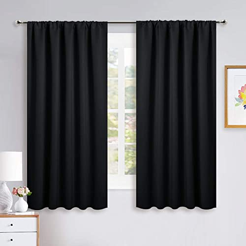NICETOWN Black Out Window Curtains - Solid Home Decor Thermal Insulated Blackout Drapes/Draperies for Bedroom, Privac...