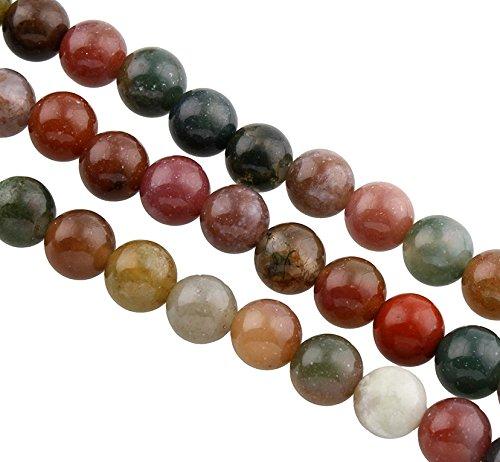 Perlas de ágata natural india de 8 mm y 6 mm, piedras preciosas redondas de colores, piedras semipreciosas, para cadena DIY (6 mm)