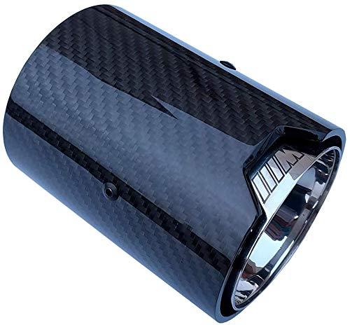ZQTG 1 STÜCKE Carbon Auspuff 70 MM Einlass 92 MM Auslass Auto Auspuffrohre für BMW M Leistung auspuffrohr M2 F87 M3 F80 M4 F82 F83 M5 F10 M6 F12 F13,Inlet60mm,Inlet60mm