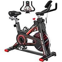 MEVEM Exercise Bike with LCD Monitor and Heart Rate Sensor