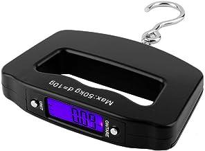 EAYIRA Mini Weight Balance Digital Portable Electronic Luggage Weighting Hook Hanging LCD Scale 50 kg-10 g (Black)