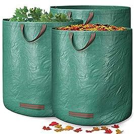GardenGloss® 1X Sac à Déchets de Jardin Avec Poignées – 272L Haute Capacité et Double Fond – Stable Aux UV et Hydrofuge…