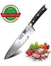 SHAN ZU Cuchillo de Cocinero Acero de 3 capas Cuchillo de Chef Acero Inoxidable 20cm- ELITE Series