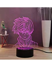 My Hero Academia 3D nachtlampje voor kinderen, decoratie 16 kleuren led-bureaulamp, touch & remote kamer, nachtlamp voor jongens, meisjes, tieners, cadeau voor Kerstmis, verjaardag (Shoto Todoroki)