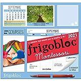 Frigobloc Montessori 2021 - Calendrier d'organisation familiale (de sept. 2020 à décembre 2021)