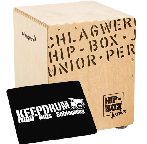 Schlagwerk CP 401 Hip Box Junior Cajon + keepdrum Pad Sitzauflage