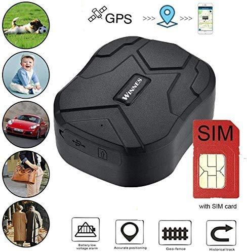 Zeerkeer GPS Tracker,Tarjeta SIM gratis Localizador GPS real Tracking150 días largo Standby,Impermeable Rastreador GPS alarmaTracker para Vehículo con Free App