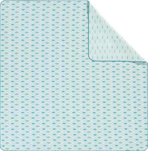 biederlack Picknickdecke XXL helltürkis Größe 200x200 cm
