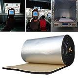 FUVOYA Tapis d'amortissement Acoustique, Panneaux isolants de Bruit d'isolation Thermique de Bruit de Voiture de Papier Aluminium de 10MM pour Le Moteur/Toit/fenêtre (50 * 200cm)