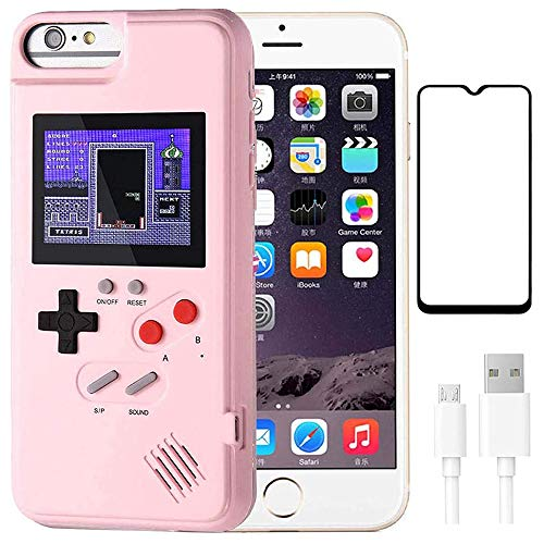 hongping Gameboy Case for iPhone, 3D Handheld Retro Game Console Phone Protective Case with 36 Small Game, Shockproof Video Game Case for iPhone 12 Pro Max