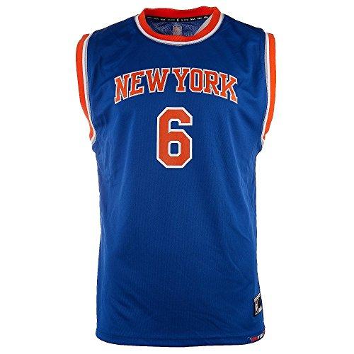 NBA New York Knicks Kristaps Porzingis Youth Boys Replica Player Road Jersey, Medium (10-12), Blue