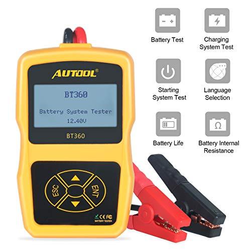 AUTOOL BT360 12 V Batterie System Tester Status Analysator CCA 100-2400 für Regelmäßige Überflutet, Auto Cranking und Ladeanlage Diagnostic Analyzer für Inländische Autos