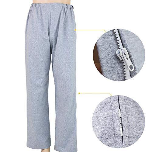 D&F Ropa Abierta para el Cuidado del Paciente Pantalones para el Cuidado de la incontinencia -...