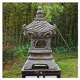 Siunwdiy Estatua de Adornos de Linterna de Pagoda de jardín Solar Zen japonés -...