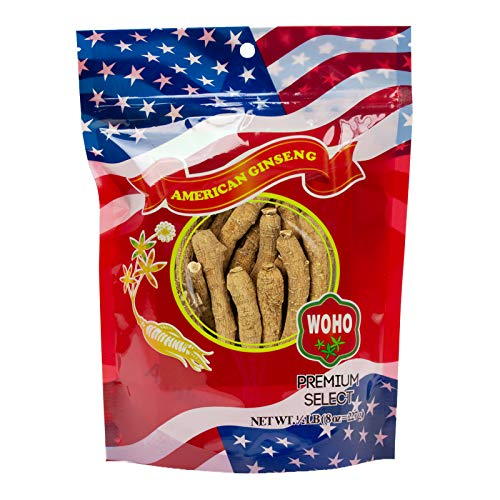 WOHO American Ginseng #100.8, Long Extra Large XL Cultivated Roots 8oz Bag by Woohoo Natural