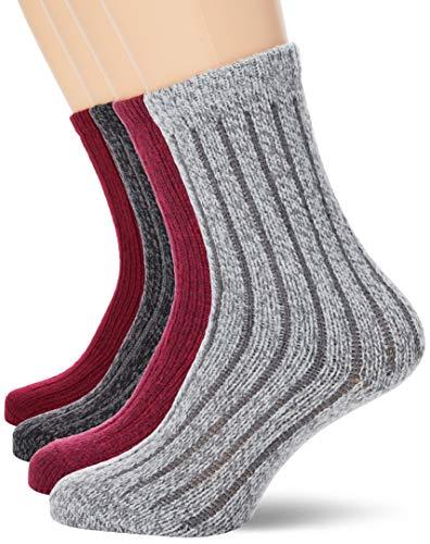 s.Oliver Socks Unisex S20484000 Socken, Dark Wine Melange+Anthracite Mel, 39/42