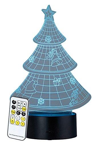 Socle lumineux décoratif à LED LS-7.3D - Motif Sapin de Noël [Lunartec]