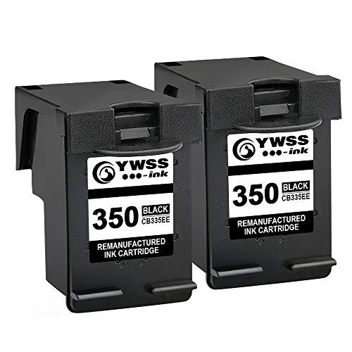 YWSS Rigenerata Cartuccia d'inchiostro per HP 350 HP350Ad alto rendimento Cartuccia d'inchiostro(2 Nero)CB335EE per HP PhotosmartC4280/C4270/C4340/C4205/C4380/C5280
