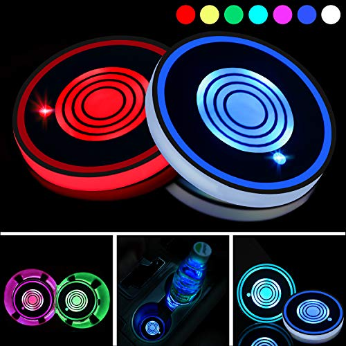 LED Auto Getränkehalter Bottle Pad Matte für Ford Interieur Atmosphere Light