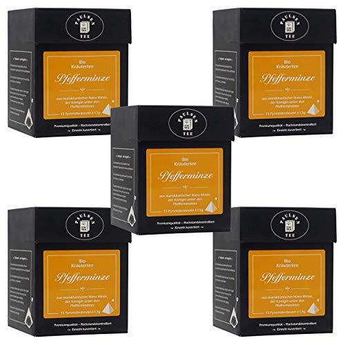 Bio Pfefferminze 112,5g (255,56 Euro / kg) Paulsen Tee Kräutertee im Pyramidenbeutel - Bio, rückstandskontrolliert & zertifiziert