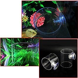Awhao - Anillo de alimentación para peces, acuario, pecera, alimentador flotante, círculo