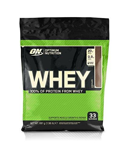 Optimum Nutrition Whey, Shake di Proteine in Polvere a Basso Contenuto di Zuccheri con Aminoacidi per la Crescita Muscolare, Cioccolato, 891 g, 33 Porzioni
