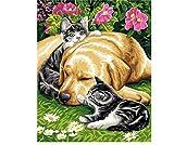leafgame Gato Bebé Dormir Perro Puzzle 1000 Piezas para Adultos Relajarse Ensamblar Juego de Juguetes de Madera Regalo para Anciano