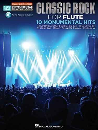 Flute Easy Instrumental Play-Along: Classic Rock (Book/Online Audio). Partituras, CD para Flauta