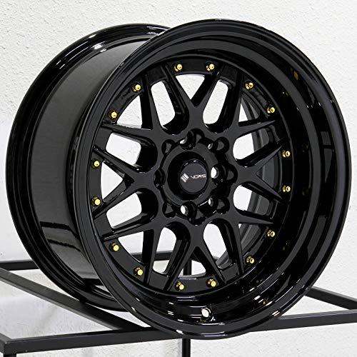 15x8 Vors VR7 4x100/4x114.3 0 Black Wheel Rim 73.1