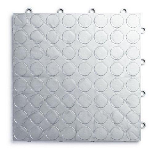 RaceDeck CircleTrac, Durable Interlocking Modular Garage Flooring Tile (48 Pack), Alloy