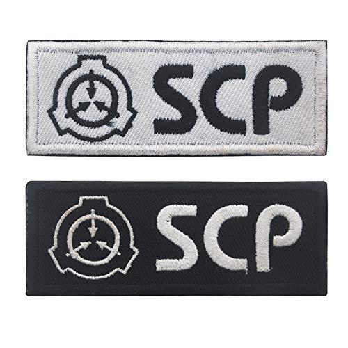 Parche de base SCP con logo 3D táctico militar, bordado para coser sobre la base de procedimientos especiales de contención con bucles y gancho (estilo 2)