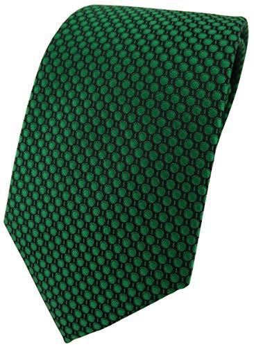 TigerTie - Corbata - verde verde oscuro negro lunares