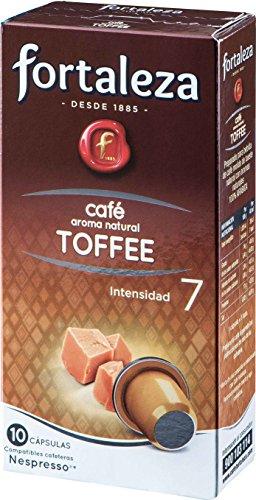 Café Fortaleza - Cápsulas de café con Aroma Toffee Compatibles con Nespresso - Pack 5 x 10 - Total 50 Cápsulas
