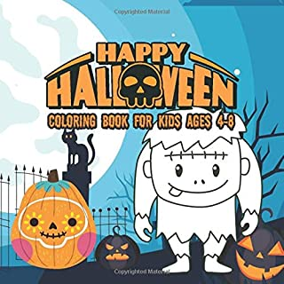 Halloween Coloring Books for kids ages 4-8: happy halloween activity book for Children pumpkins design (halloween coloring pages for kids)