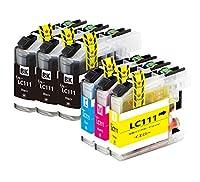 brother インクカートリッジ ブラザー LC111互換プリンターインクLC111-4PK 6本セット(4色セット+2本ブラック) LC111C LC111M LC111Y LC111BKx3 大容量タイプ 残量表示可能icチップ付 大阪インク