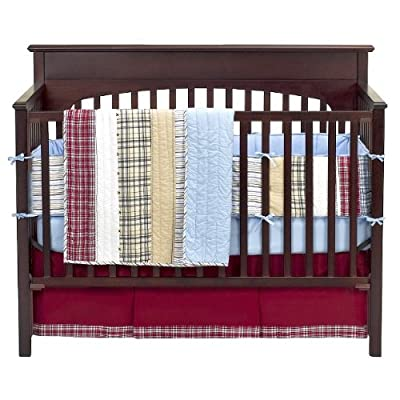 Bacati Stripes and Plaids 4-piece Crib Bedding Set by Bacati