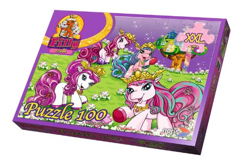 Noris 606030025 Filly Elves-100 teiliges Maxi Puzzle 68 x 48 cm