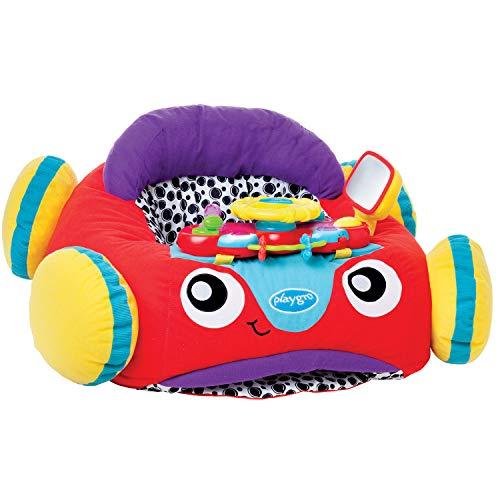 Playgro Plüschauto mit Lenkrad, Musik und Lichteffekten, Ab 6 Monaten, Music and Lights Comfy Car, Mehrfarbig, 40191