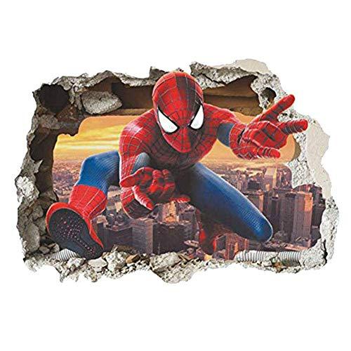 professionnel comparateur Stickers muraux Marvel Superhero Spider-Man Stickers muraux Fond de chambre d'enfants Décoration… choix