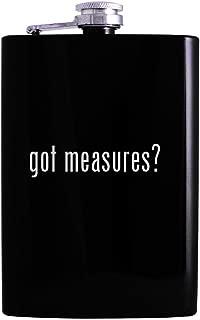 got measures? - 8oz Hip Alcohol Drinking Flask, Black