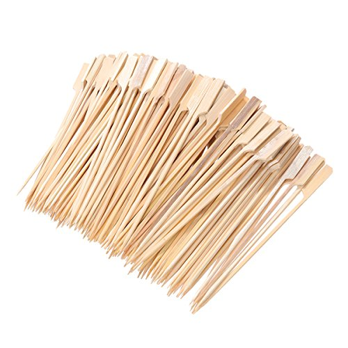 200 Wooden Bamboo BBQ Skewers, Rod, Fruit, Chocolate Fountain Fondue, 18 cm