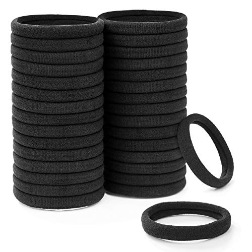 EAONE Haargummis Schwarz Haarbänder Elastisches Haarband Pferdeschwanz Halter für Damen & Mädchen, 100 Stück
