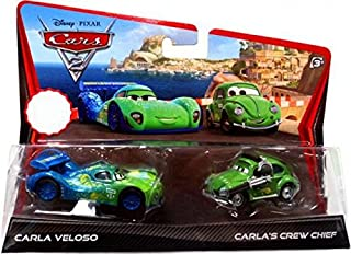 Disney / Pixar CARS 2 Movie Exclusive 155 Die Cast Car 2Pack Carla Veloso Carlas Crew Chief