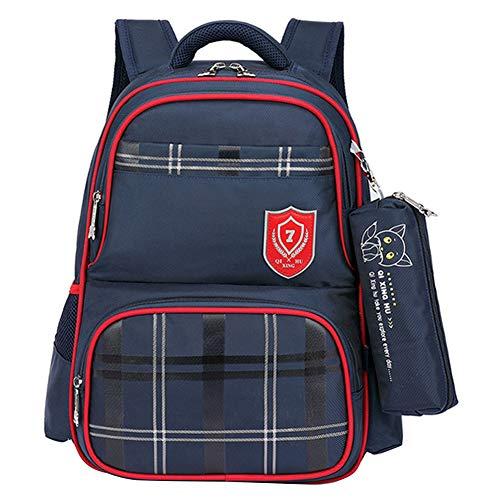 QIXINGHU - Schulrucksack Schulranzen Jugendiche Junge Rucksack Kinder Teen wasserdichte Daypack Bookbag - 6-10 Jahre alt