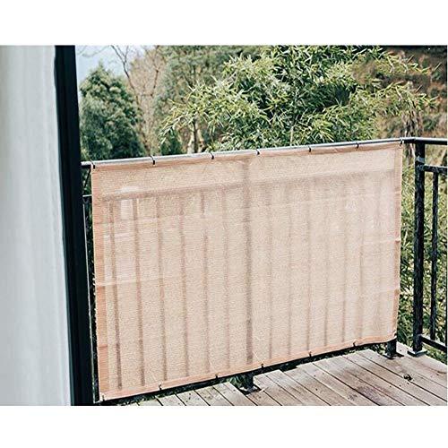 ZX-Plane Schatten-Netz Sonnenschutznetz Datenschutzbildschirm Balkon Datenschutzfilter Vordach-Markise Balkonabdeckung Multifunktion Markisen ZXZIXI (Color : Beige, Size :...