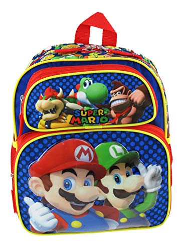 Super Mario Bros. 12' Mid Size Backpack - Mario Madness - 21121