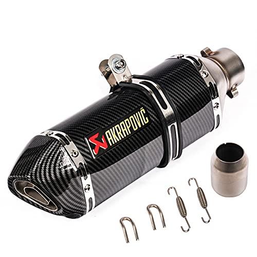 Silenciador de escape universal para motocicleta de 51 mm Textura de fibra de carbono negra tubo de escape trasero eliminador de ruido de acero inoxidable DB Killer para motos de cross ATV (B)
