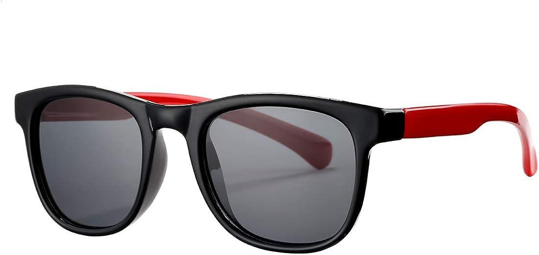 Polarized TPEE Rubber Flexible Sun Glasses 100/% UV Protection Kids Sunglasses for Girls Boys Age 3-10